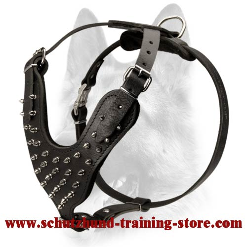 Handcrafted Comfortable Leather Dog Walking Harness