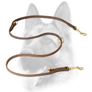 Schutzhund Convertible Leather Dog Leash for Training, Walking, Tracking