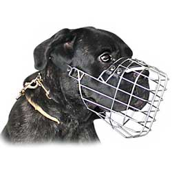 Well-made steel wire basket muzzle