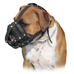 Comfortable lightweight dog muzzle