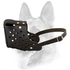 Training Schutzhund dog breed leather dog muzzle