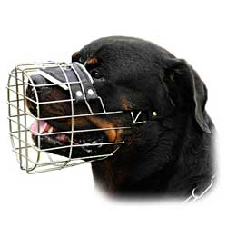 Wire basket muzzle with good air flow