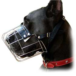 Super quality wire dog muzzle