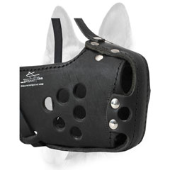 Dog Muzzle Basket Leather Allows for Perfect Venilation