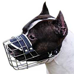 Great wire basket muzzle for Schutzhund