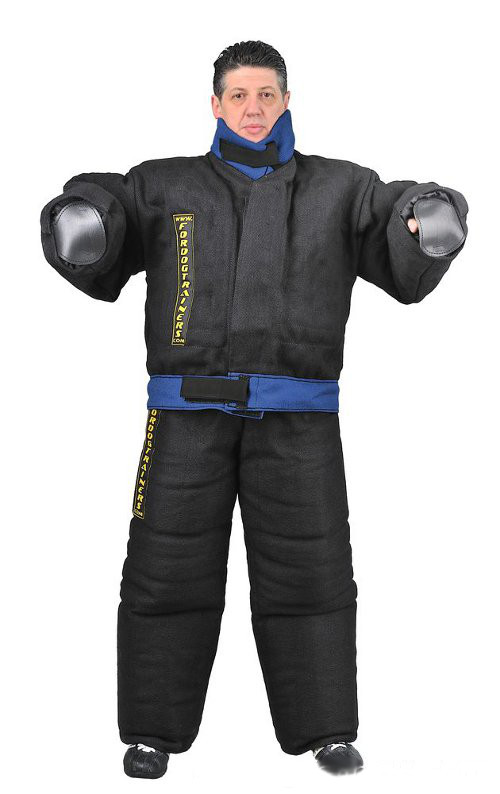 Non-restrictive bite suit for dog training
