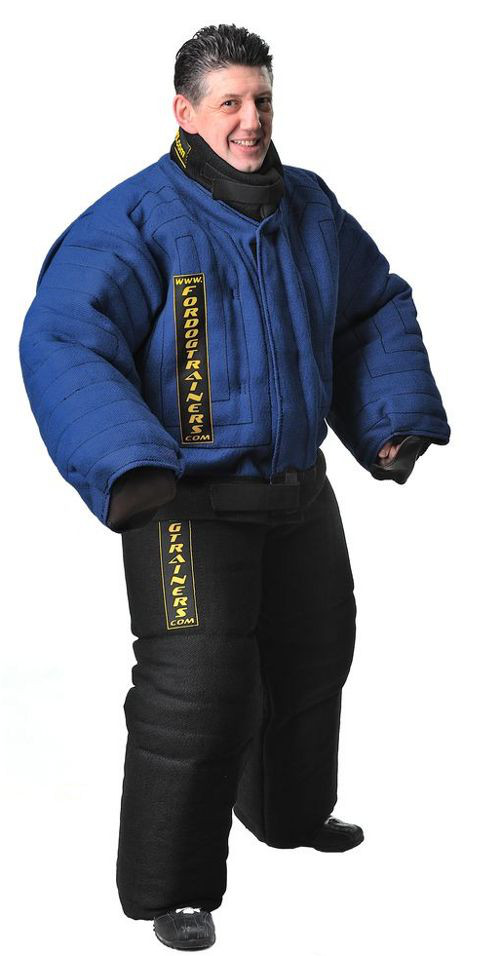 Tear-resistant body protection bite suit