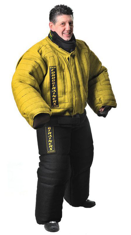 Extremely durable body protection bite suit