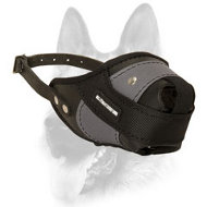 Heavy-Duty Leather Nylon Dog Muzzle for Attack/ Agitation Training