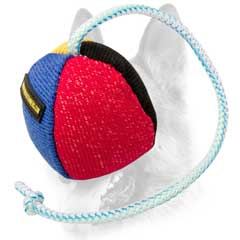 French Linen Toy on Rope for Schutzhund Training