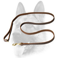 Leather Dog Leash Properly Stitched in Major Locations