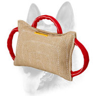 Dog Bite Pad Made of Jute with 3 Heavy-Duty Handles